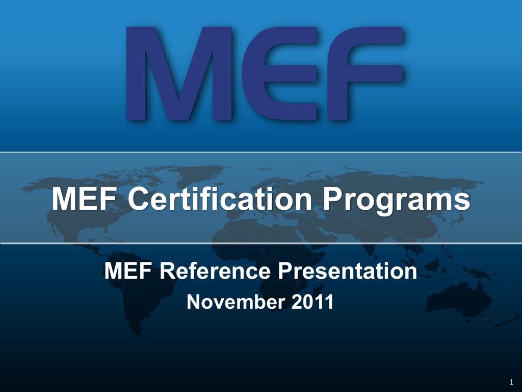 Mef 9 And Mef 14