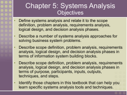 Scope definition phase+system analysis and design — img 1