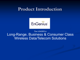 FreeStyl 1 Sales Guide - EnGenius Technologies, Inc.