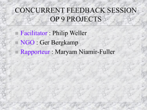 Concurrent Feedback Sesion:OP 9 Projects