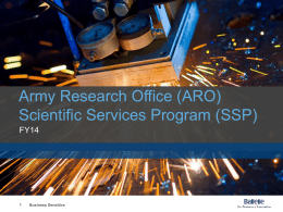 (ARO) Scientific Services Program (SSP)