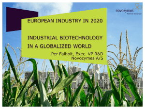 Prof. Per Falholt: Industrial Biotechnology in a Globalized World