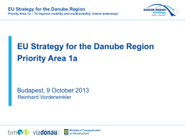R. Vorderwinkler -EU Strategy for the Danube Region Priority Area 1a
