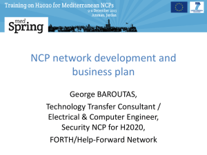 NCP network development and business plan