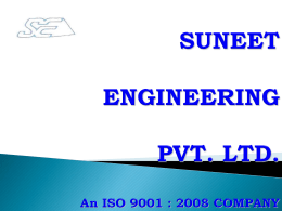 Company Brochure - Suneet Engineering Pvt. Ltd.