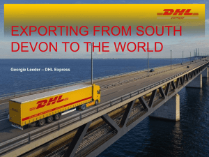 Exporting from South devon to the world