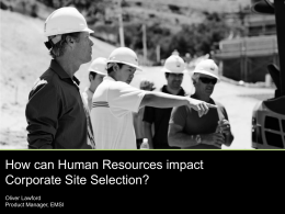 How can Human Resources affect Corporate Site Selection