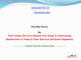 Presentation-SIMARTECH - Electric Control Panels CHD