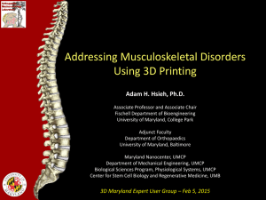 Addressing Musculoskeletal Disorders Using 3D Printing