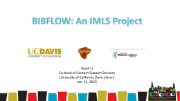 BIBFLOW update Xiaoli Li