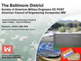 The Baltimore District - The Society of American Military Engineers