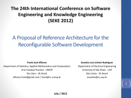 A Proposal of Reference Architecture for the Reconfigurable