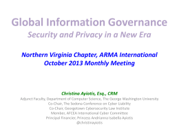 Global Information Governance
