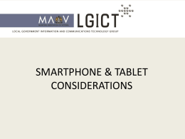 Smartphone & Tablet Considerations