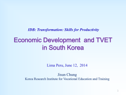 Vocational Education & Training in South Korea