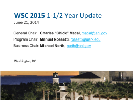 WSC 2015 - Winter Simulation Conference
