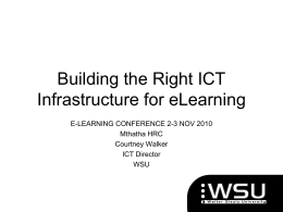 Building the right IT infrastructure for e