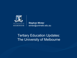 You Never Stop Learning - UniMelb