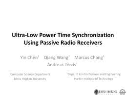 Ultra-Low Power Time Synchronization Using Passive Radio