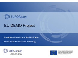 EU DEMO project - Fusion Research Group