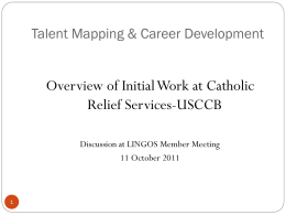 Palasits-CRS-Talent Mapping Update Guidance_LINGOS General