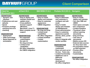 IBM ECM WF and client Comparison