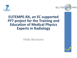 EUTEMPE-RX, an EC supported FP7 project for the Training and