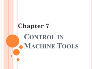 IPE 401: Control in Machine Tools
