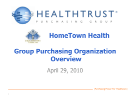 Group Purchasing Organization Overview