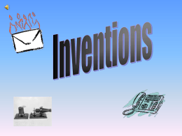 Inventions PowerPoint