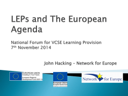 Network for Europe Presentation