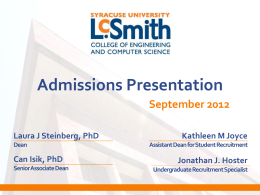LCSmith Admissions Overview
