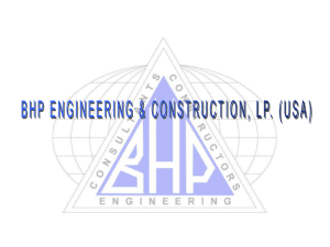Water & Wastewater Presentation - BHP Engineering & Construction