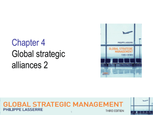Chapter4-Global strategic alliances 2