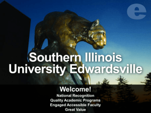 Overview of SIUE - Southern Illinois University Edwardsville