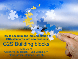 G2S building block - Gaming Standards Association