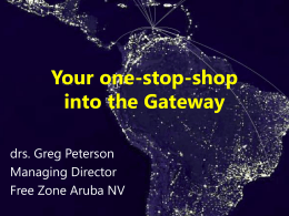 Greg Peterson - Green Aruba where Europe Meets the Americas