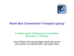 North Sea Commission work on Transport