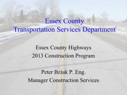 Essex County Transportation Department