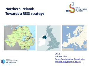 Northern Ireland: Towards a RIS3 strategy