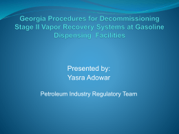 Georgia Procedures for Decommissioning Stage II Vapor Recovery