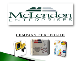 Company Overview - McLendon Enterprises