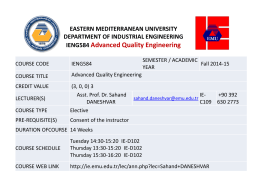 Dowload File - Industrial Engineering Department EMU-DAU