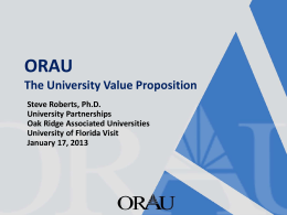 ORAU - Office of Research