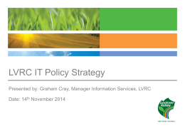 IT Policy Strategy and Implementation
