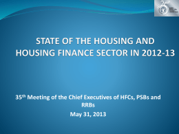 state of the housing and housing finance sector in 2012-13