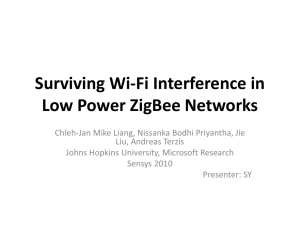 Surviving Wi-Fi Interference in Low Power ZigBee Networks