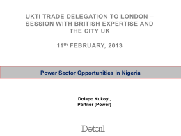Power Sector Opportunities - Detail Commercial Solicitors