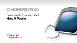 Urska Skrt – Cybergrid. How to operate a virtual power plant