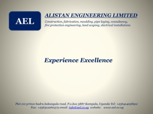 our Profile - Alistan Engineering Limited